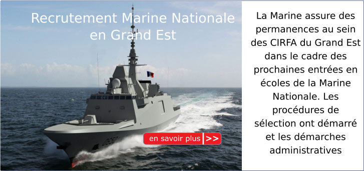 Recrutement Marine Nationale en Grand Est